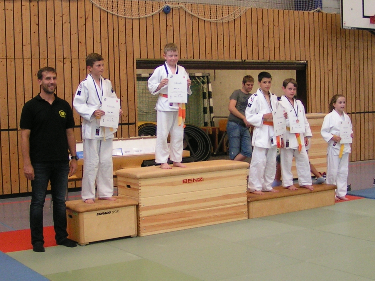 Siegerehrung Andre Zeis und Tizian Rehm