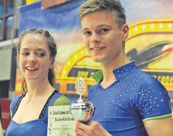Viviane und Lukas das beste baden-württembergische Paar bei den Junioren und somit Landesmeister.